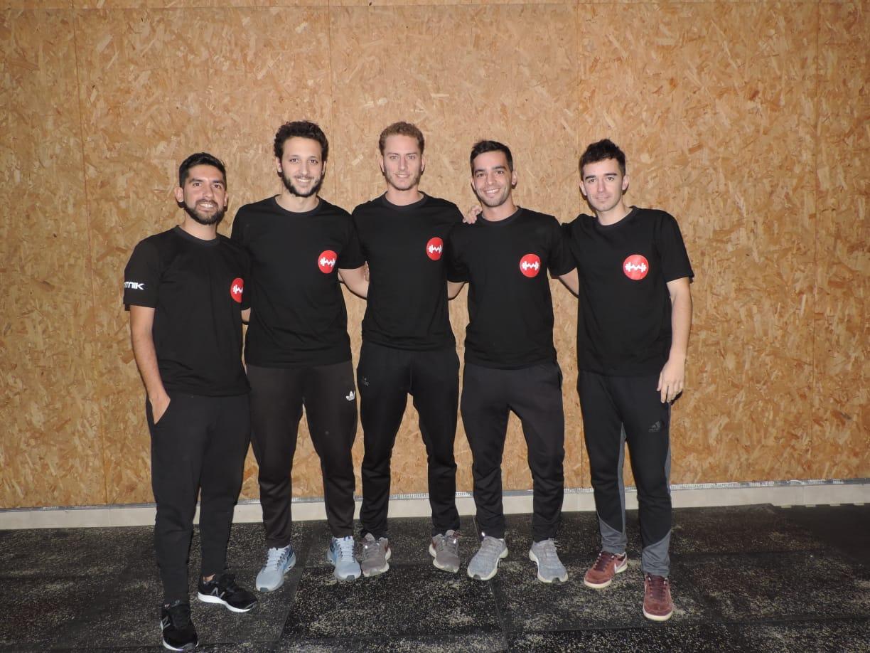 De izquierda a derecha, los integrantes de Motus: Federico Serra, Juan Pablo Della Mea, Nicolás Mélica, Federico Bearzotti y Renato Gariboldi.