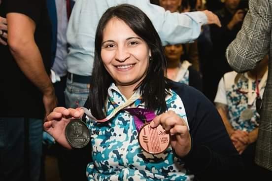 Verónica Blanco conquistó la medalla de bronce en la prueba de dobles de tenis de mesa en los Juegos Parapanamericanos de Lima 2019.