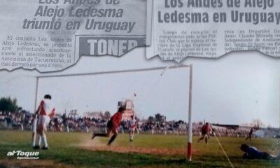 Un día como hoy, hace 33 años, Los Andes de Alejo Ledesma pisó fuerte en Uruguay.