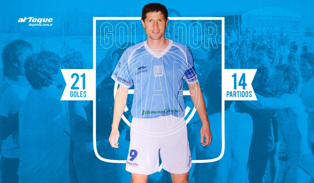 Julio Parejo anotó 21 goles en 14 fechas en el Estudiantes campeón del Apertura 2004. Un récord que parece inalcanzable.