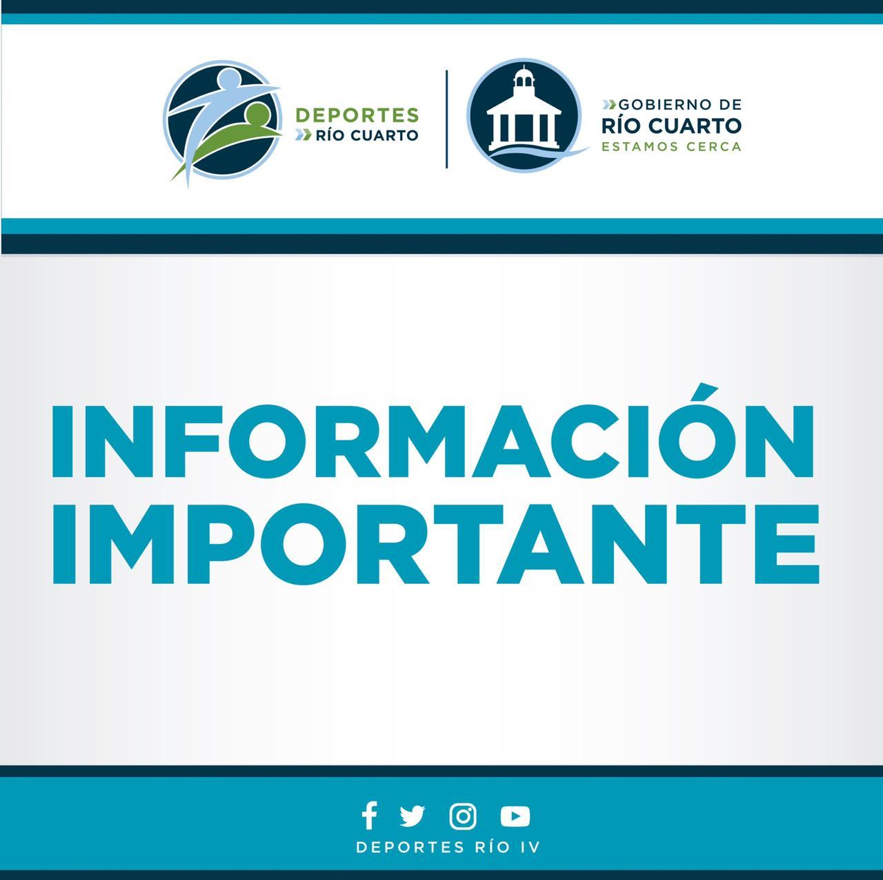 Deportes Río Cuarto anunció la apertura del gimnasio y natatorio del Centro 11.
