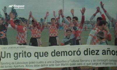 Hace 15 años Sporting de Laboulaye se consagraba campeón del Apertura 99 de la Liga laboulayense.
