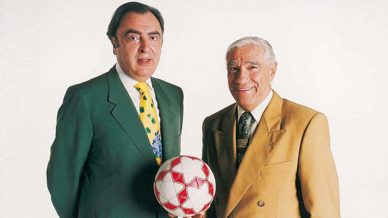 Enrique Macaya Márquez (izquierda) fue la cara referente de Fútbol de Primera durante toda su estadía al aire.