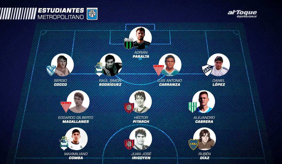 El once metropolitano. Los jugadores que pasaron desde Estudiantes a clubes de Buenos Aires.