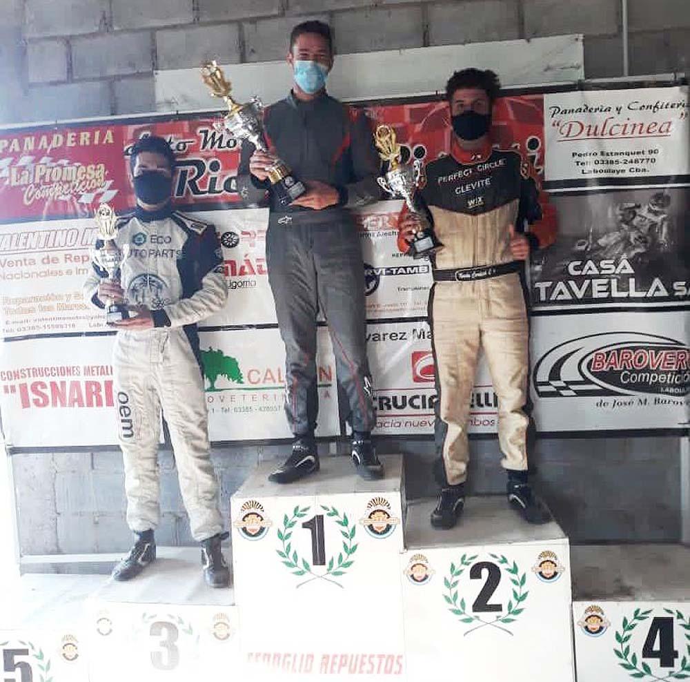 El laboulayense Bovone ganó en el fin de semana de kartings en su localidad.