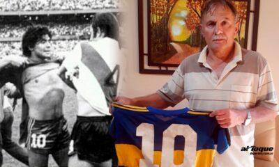 La joya de Saporiti: la diez de Maradona.