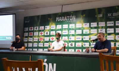 Herrera, Agustín y Marcelo Gherro presentaron la 43° edición de la Maratón de los Dos Años.