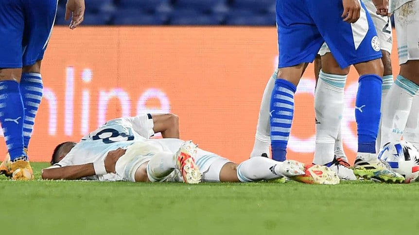 Palacios se fracturó la apófisis transversa de su columna lumbar.