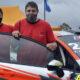 Los hermanos Herrera se suben al auto para competir en el Rally Cordobés.