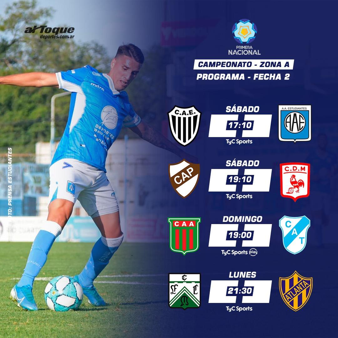 La programación de la segunda fecha de la Zona Campeonato A.