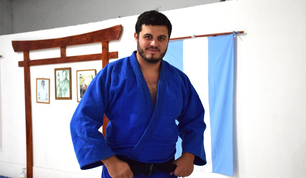 El judoca confía en progresar con su escuela y su trabajo en 2021.