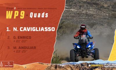 Cavigliasso se quedó con la Etapa 3 y se subió al podio en la general de cuadriciclos del Dakar 2021.