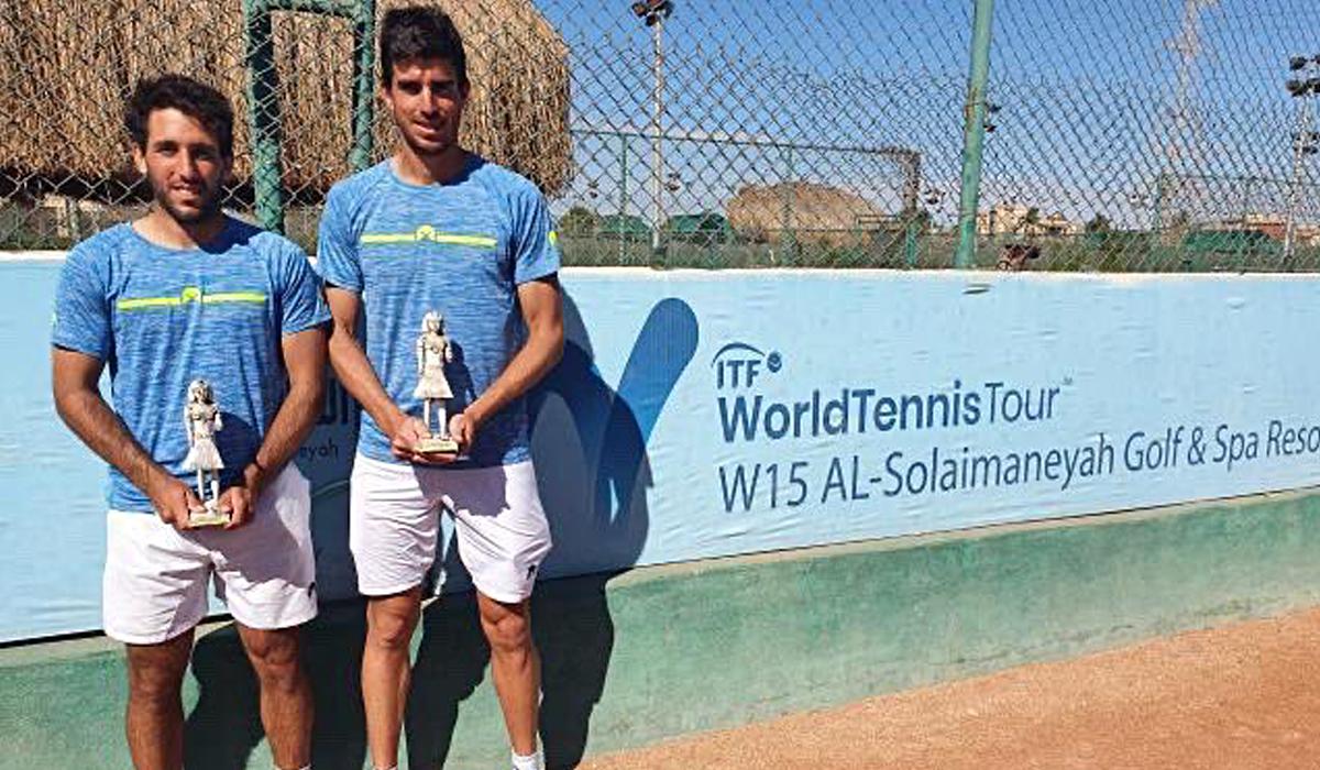 Hernán Casanova y Franco Agamenone, los campeones del dobles en el M15 de El Cairo.