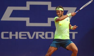 Tomas Etcheverry durante su debut en el Córdoba Open.