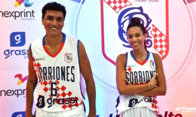 Los jugadores de las primeras divisiones de Gorriones presentaron las camisetas para el 2021.