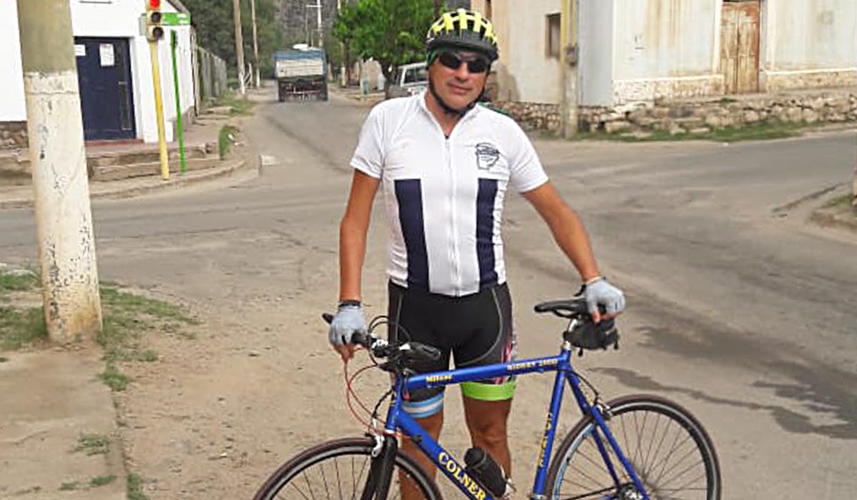 El ciclista participó de una Campeonato Nacional en Chilecito, La Rioja.