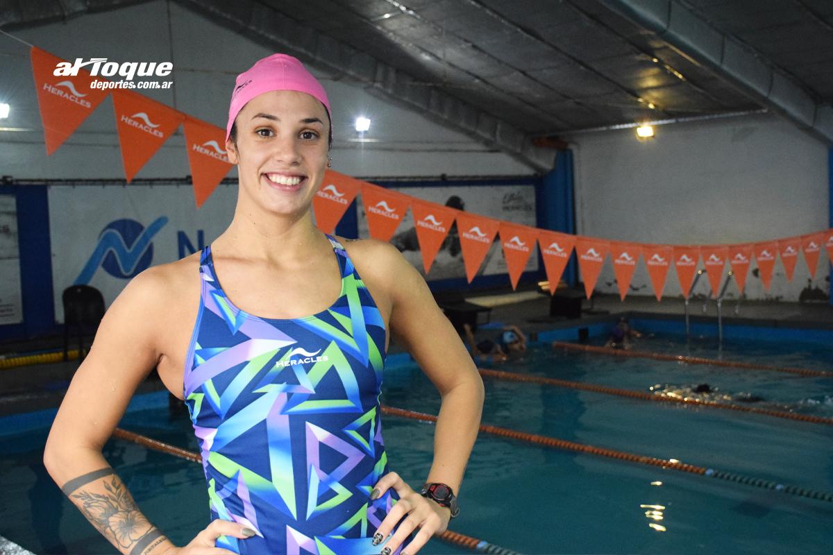 La nadadora riocuartense se refirió a su gran actuación en el último Sudamericano.