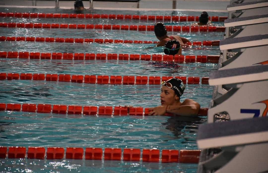 La nadadora riocuartense consiguió dos preseas en el Sudamericano hasta ahora.