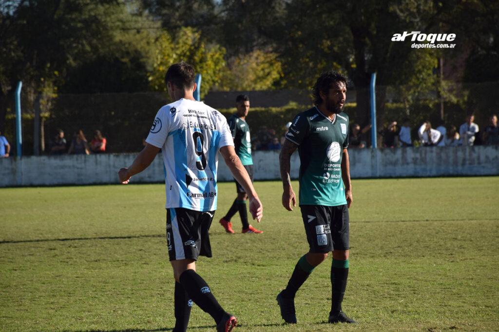 Beraldi y Di Santo fueron protagonistas en el empate del domingo.