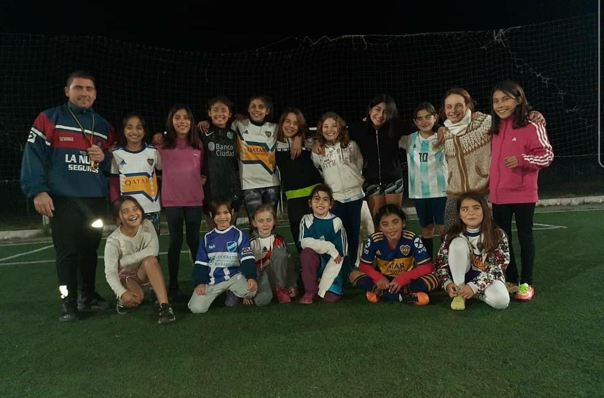 La entidad de San Basilio comenzó con la escuela de fútbol formativo.
