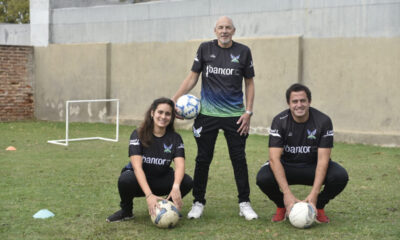 """Además de """"Cacho"""", la escuela cuenta con Marcelo Ortiz como Coordinador General y con los profesores Emilia Berton y Lucas Facca."""