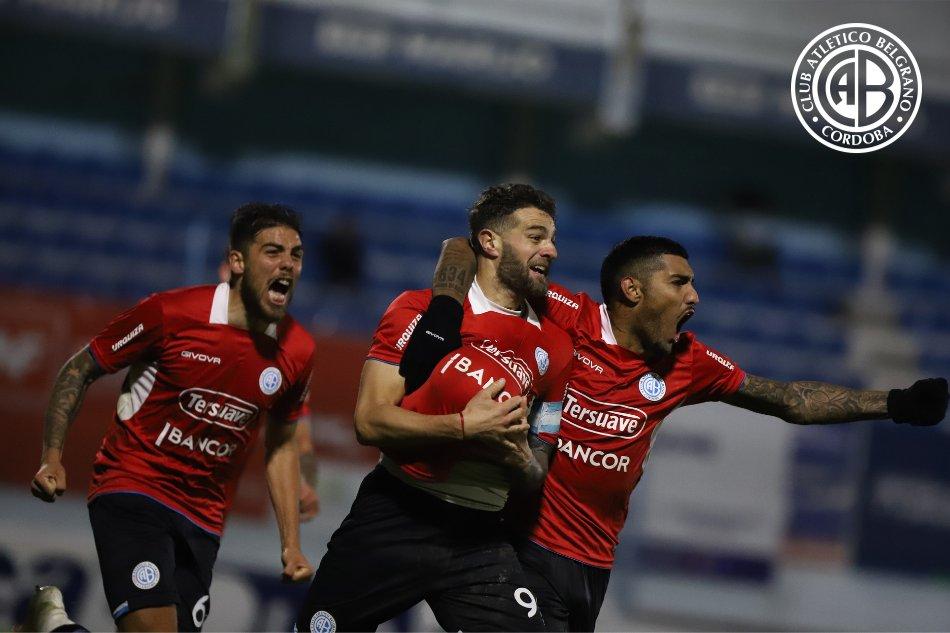 Pablo Vegetti, en la última jugada del partido, anotó el único gol, que significó el quiebre de una larga racha sin triunfos para Belgrano.