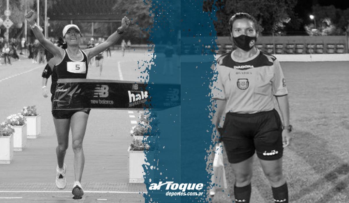 Benítez y sus dos facetas: atleta y árbitra.