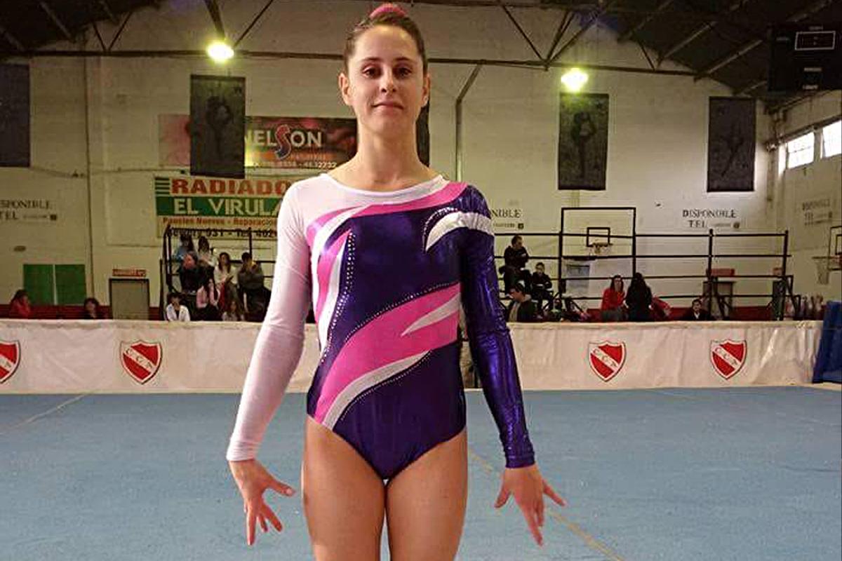 Antonella Abattaneo, compitiendo para Central Argentino.