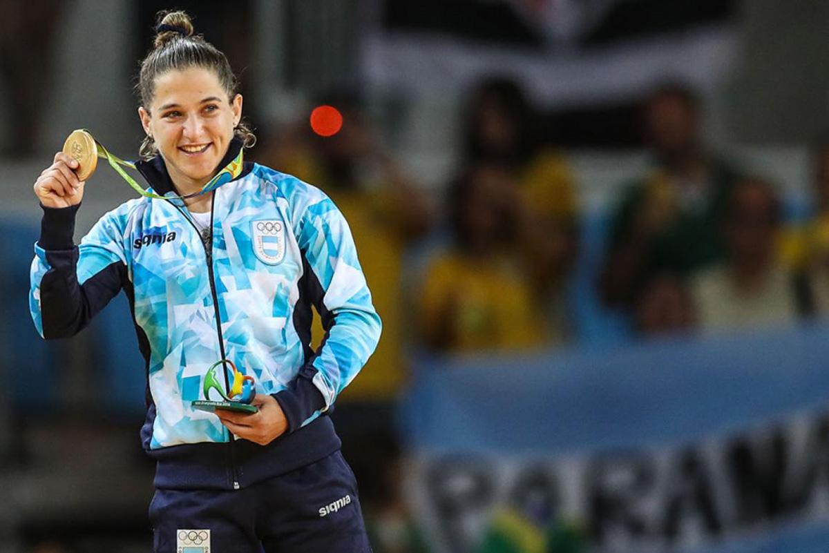 Pareto con su medalla de oro en Río 2016.