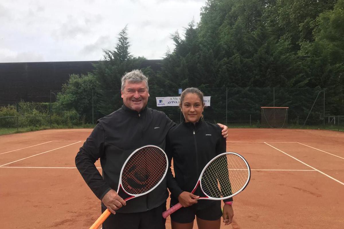 Giovannini junto a su entrenador Erlicher.