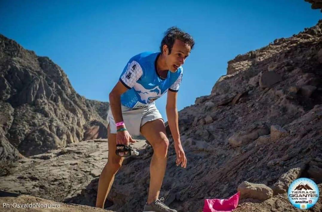 Brian Burgos fue convocado para correr el Sudamericano de Trail Run.