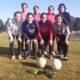 Las diez futbolistas de Charrense que retomaron los entrenamientos.