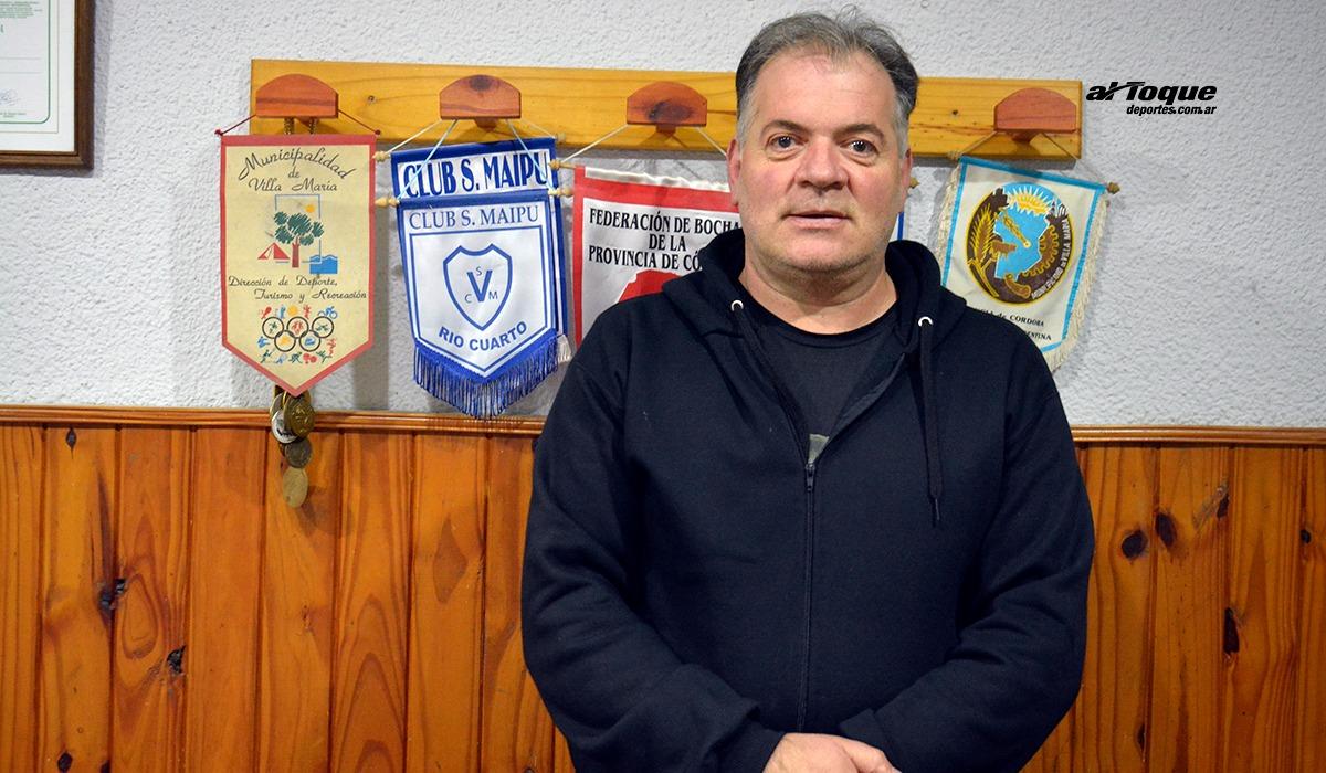 Omar Rocha, presidente de Club Maipú.
