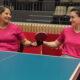 Verónica Blanco y Coty Garrone, entrenando juntas antes de jugar por equipos en Tokio.