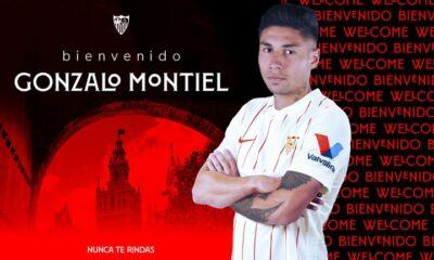 Sevilla le dio la bienvenida a Gonzalo Montiel.
