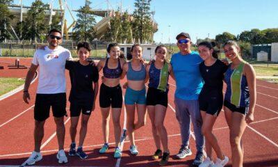 Seis campeones provinciales de atletismo.