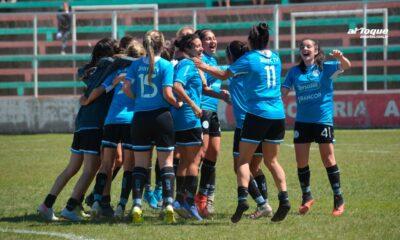 La celebración de Belgrano tras ganar en la final.
