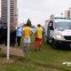 """La ambulancia tardó más de 20 minutos en llegar al Estadio """"9 de Julio""""."""